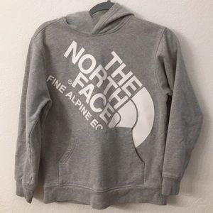 The North Face hooded sweatshirt size youth large